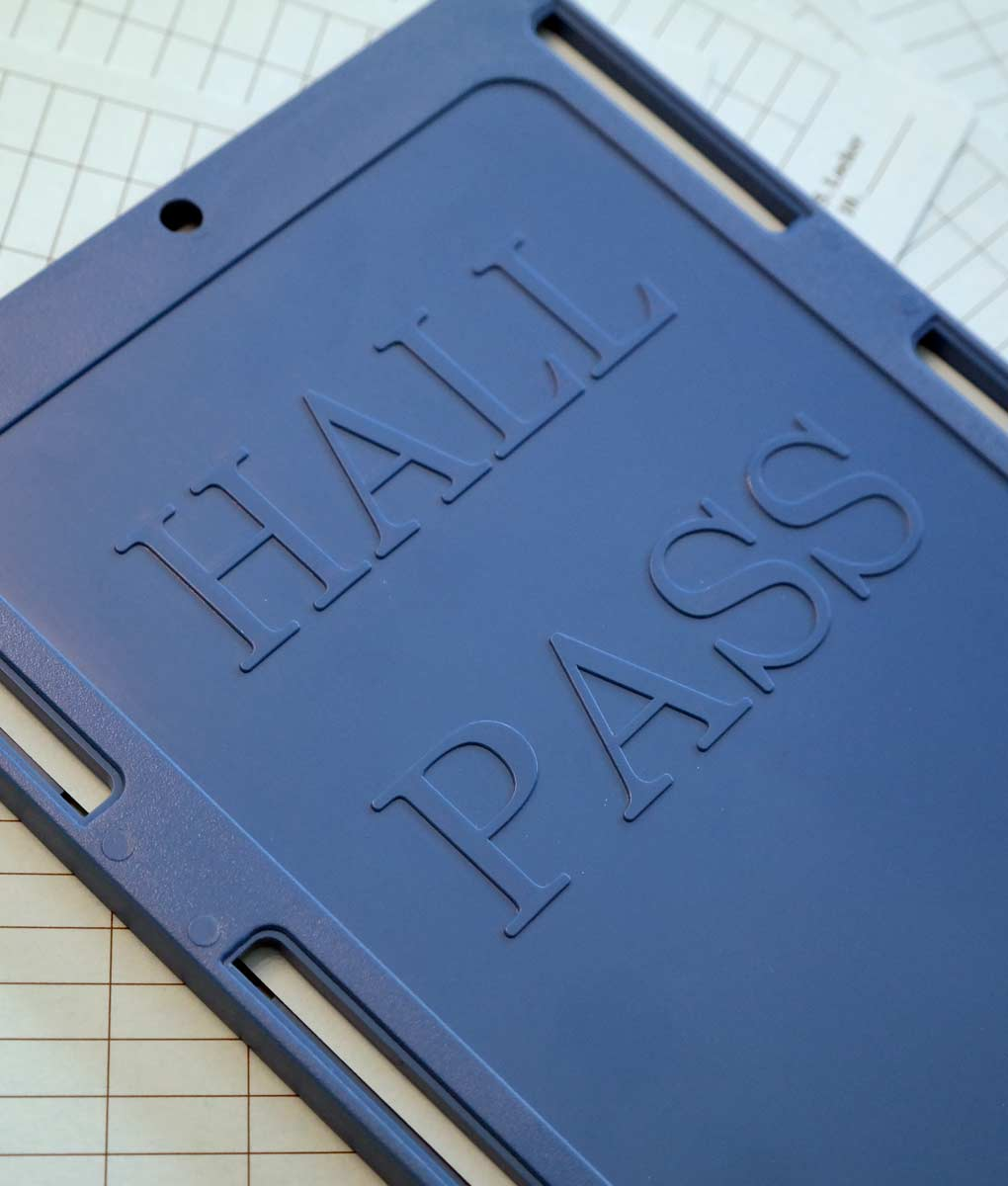 Hall Pass Student Tracking School Safety Plastic Pass